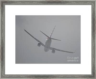 Heading Straight Into The Fog  Framed Print