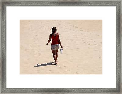 Heading To The Dunes Framed Print by Carolyn Ricks