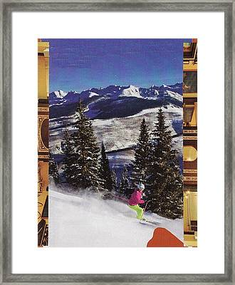 Heading To The Mountains Framed Print