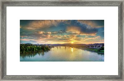 Heading Up River Framed Print