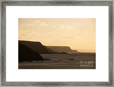 Headland Framed Print by Anne Gilbert