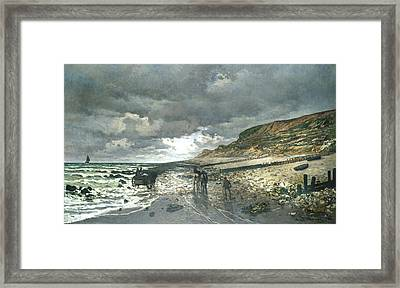 Headland Of The Heve At Low Tide Framed Print