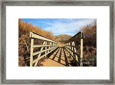 Headlands Bridge Framed Print by Juan Romagosa