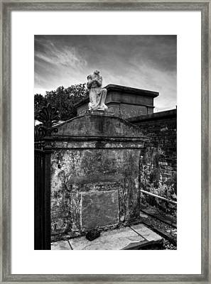 Headless Angel In Black And White Framed Print