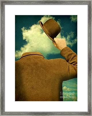 Headless Man With Bowler Hat Framed Print by Jill Battaglia