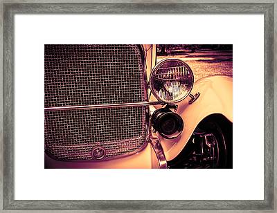 Headlight And Horn Framed Print