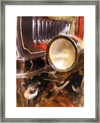 Headlight From 1917 Truck Framed Print by Susan Savad