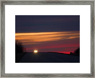 Framed Print featuring the photograph Headlights by Bob Pardue