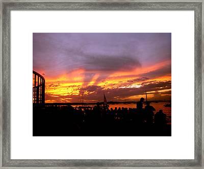 Headlights Of Sunset Framed Print