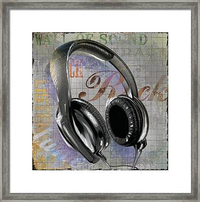 Headphones Framed Print by Jim Baldwin