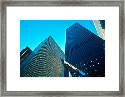 Headquarters In Midtown Manhattan Framed Print by Kellice Swaggerty