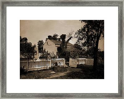 Headquarters Of Gen. Geo. G Framed Print by Litz Collection