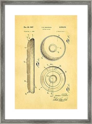 Headrick Frisbee Patent Art 1967 Framed Print by Ian Monk