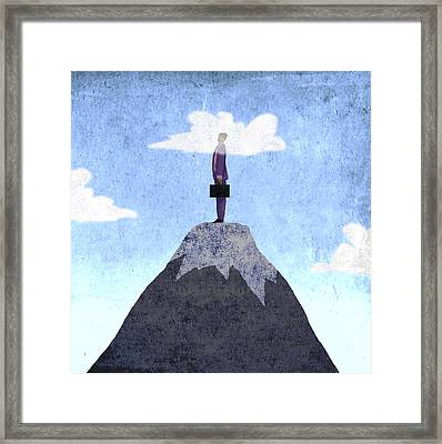 Heads Clouds Framed Print by Steve Dininno