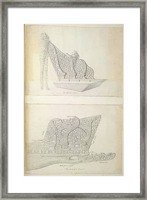 Heads Of Canoes Framed Print by British Library