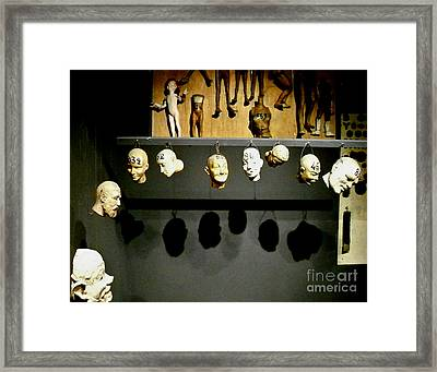 Framed Print featuring the photograph Heads Will Roll by Newel Hunter