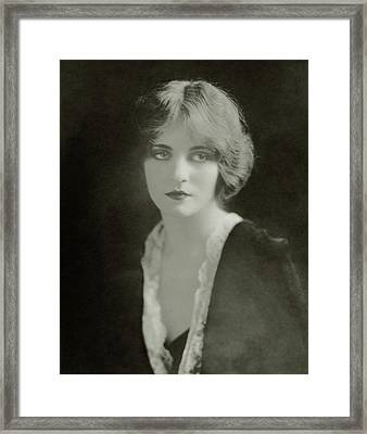 Headshot Of Tallulah Bankhead Framed Print by Ira L. Hill