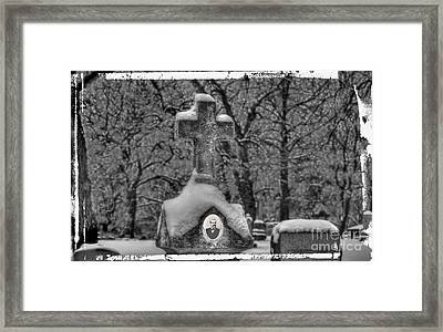 Headstone Framed Print by Jim Wright