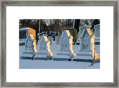 Headstones In Winter 2 Framed Print