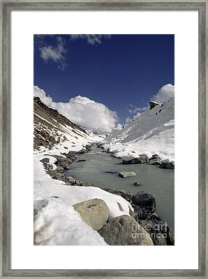 Headwaters Of Barun Khola - Makalu Base Camp Framed Print