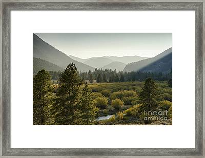 Headwaters Of The Big Lost River Framed Print