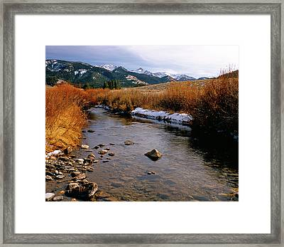 Headwaters Of The River Of No Return Framed Print