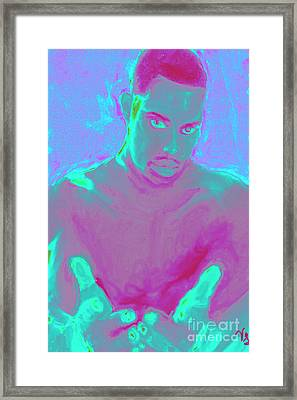 Framed Print featuring the digital art Heal My Blues by Vannetta Ferguson