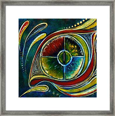 Framed Print featuring the painting Healer Spirit Eye by Deborha Kerr