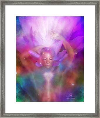 Healing Crown Framed Print by Carol Cavalaris
