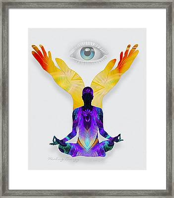 Healing Energy Framed Print by Gayle Odsather
