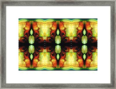 Healing Energy - Visionary Art By Sharon Cummings Framed Print by Sharon Cummings