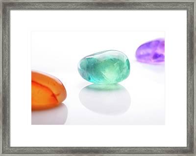 Healing Gemstones Framed Print