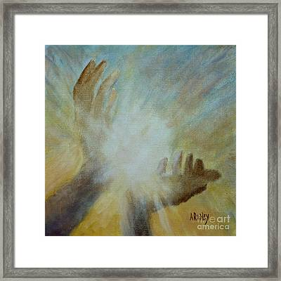 Healing Hands Framed Print by Ann Radley