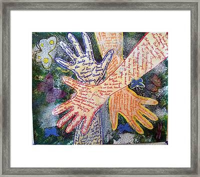 Healing Hands Framed Print
