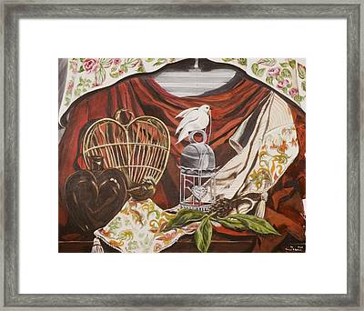 Framed Print featuring the painting Healing Heart by Susan Culver