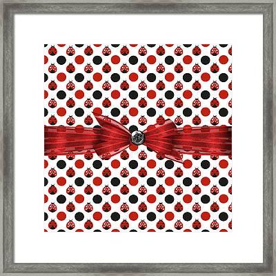 Healing Ladybugs Framed Print by Debra  Miller