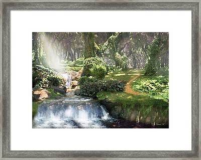 Healing Light Within Framed Print by David M ( Maclean )