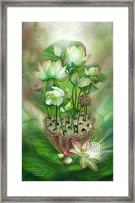 Healing Lotus - Heart Framed Print by Carol Cavalaris