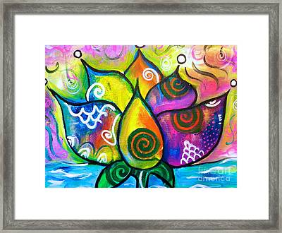 Healing Lotus Of Transformation Framed Print