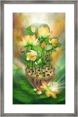 Healing Lotus - Solar Plexus Framed Print