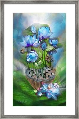Healing Lotus - Throat Framed Print