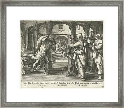 Healing Of The Man At The Pool Of Bethesda Framed Print