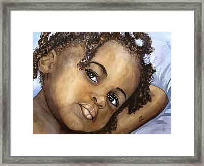 Nigerian Eyes Framed Print