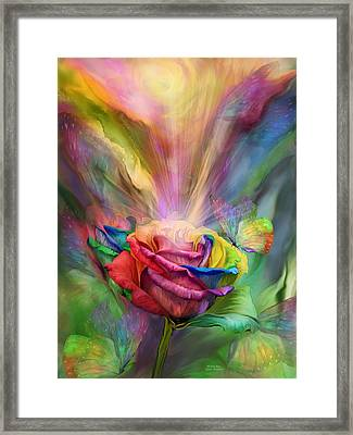 Healing Rose Framed Print by Carol Cavalaris