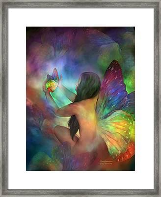 Healing Transformation Framed Print by Carol Cavalaris