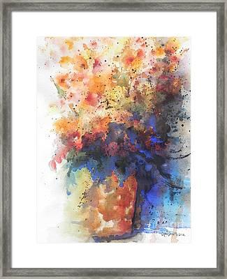Healing With Blue Framed Print by Chrisann Ellis