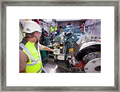 Health And Safety Workers Framed Print by Ashley Cooper