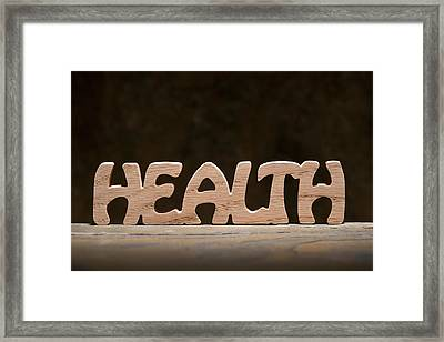 Health Framed Print