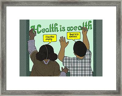 Health Is Wealth Framed Print by Emory Douglas