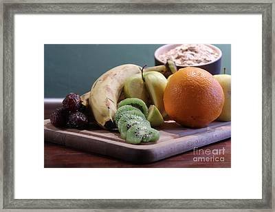 Healthy Breakfast Fruits And Cereals Framed Print